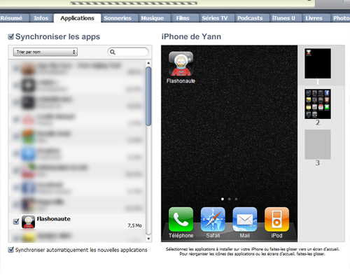 Flash CS5 - iPhone OS - iTunes